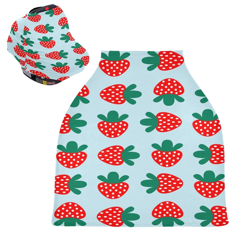 Nursing Cover Strawberry Fruit Fashion Washable Co Cart Shopping In Dedication stock
