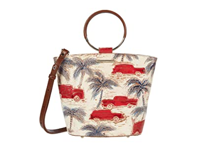 Brahmin Copa Cabana Mod Bowie Satchel (Ember) Handbags