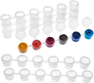 PH PandaHall Empty Paint Strips - 150 Paint Cups 3ml (1 oz) Arts and Crafts Plastic Storage Containers for Schools, Summer...