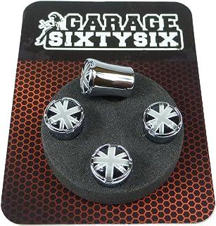 Garage SixtySix Ventilkappen UK schwarzweiß Modell Milwaukee Chrom