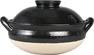 長谷園 土鍋 ヘルシー 蒸し鍋 大 31 cm 3000 ml 3-5人用 直火 専用 黒 伊賀焼 日本製 ZW-18