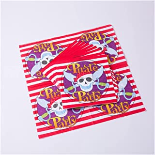 Party Tableware Pirate Party Theme Tableware Set Paper Plate Napkins Banner Balloon Party Supplies Birthday Baby Shower Pa...