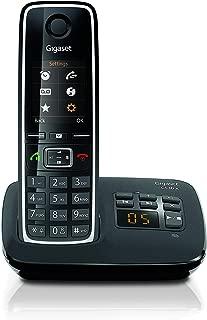Gigaset C530A Telefono Cordless con Segreteria, Esclusione Suoneria per Fasce Orarie e Numeri Anonimi, Nero [Versione Italiana]