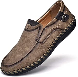 Mens Penny Loafers Premium Leather Casual Shoes Breathable Driving Shoes Flats Boat Shoes Slip on (