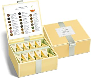 Sponsored Ad - Tea Forte Organic Assorted Variety Tea Sampler, Tea Tasting Tea Chest Gift Box with 40 Handcrafted Pyramid ...