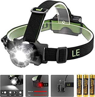 featured product LE CREE LED Headlamp, 3 Lighting Modes, Lightweight Headlight for Outdoor, Camping, Running, Hiking, Reading and More, AAA Batteries Included
