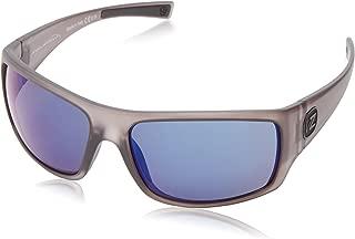 VonZipper Suplex Polarized Rectangular Sunglasses,Charcoal Satin,62.4 mm
