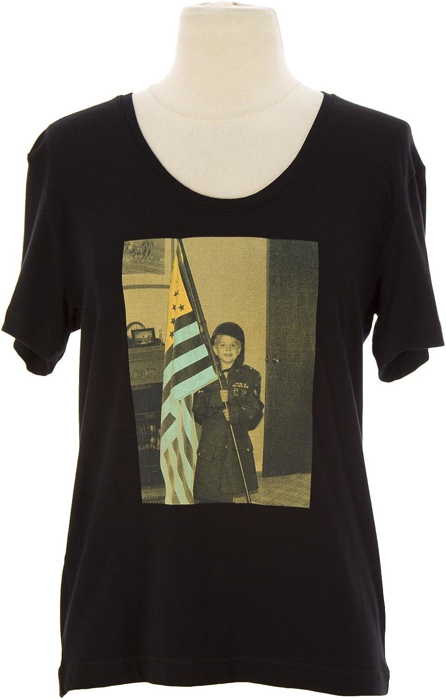 ADAMITE Women's Short Sleeve 'Boys 2 Tee' Printed Shirt Sz 1 Black