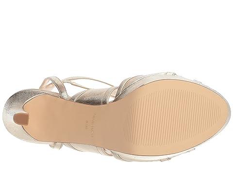 al Heel Nine Platino PU metalizado Sandal agua West grabado Valeska Platform 06ggw1FxBq