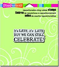 "Stampendous CRL267 Celebrate Late Cling Stamp, 3.5"" by 4"", Grey"