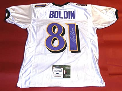 ANQUAN BOLDIN AUTOGRAPHED BALTIMORE RAVENS JERSEY AASH at Amazon's ...