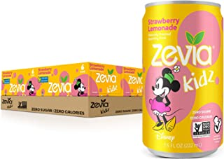 Zevia Kidz, Strawberry Lemonade, 7.5 Oz Cans (Pack Of 24)