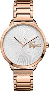 Lacoste Womens Quartz Watch, Analog Display and Stainless Steel Strap 2001060