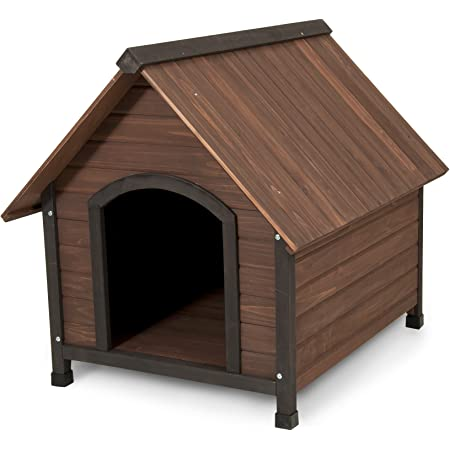 Aspen Pet Ruff Hauz Peak Roof Dog House, 50 to 90-Pound
