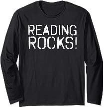 READING ROCKS Funny Book Reader Library Nerd Gift Idea Long Sleeve T-Shirt