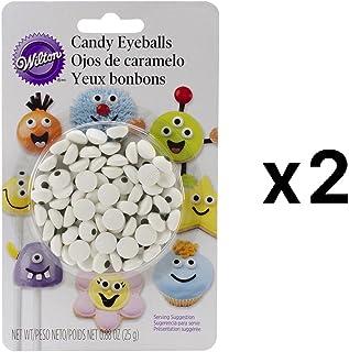 Candy Decorations 50/Pkg-White Eyeballs