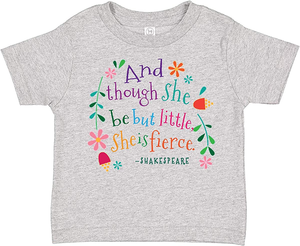 inktastic She is Fierce Funny Shakespeare Quote Gift Toddler T-Shirt