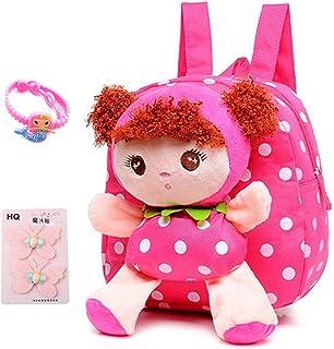 Suerico Cute Toddler Backpack Plush Doll Toy Snack Travel Bag Preschool Shoulder Bag Gift for Kid