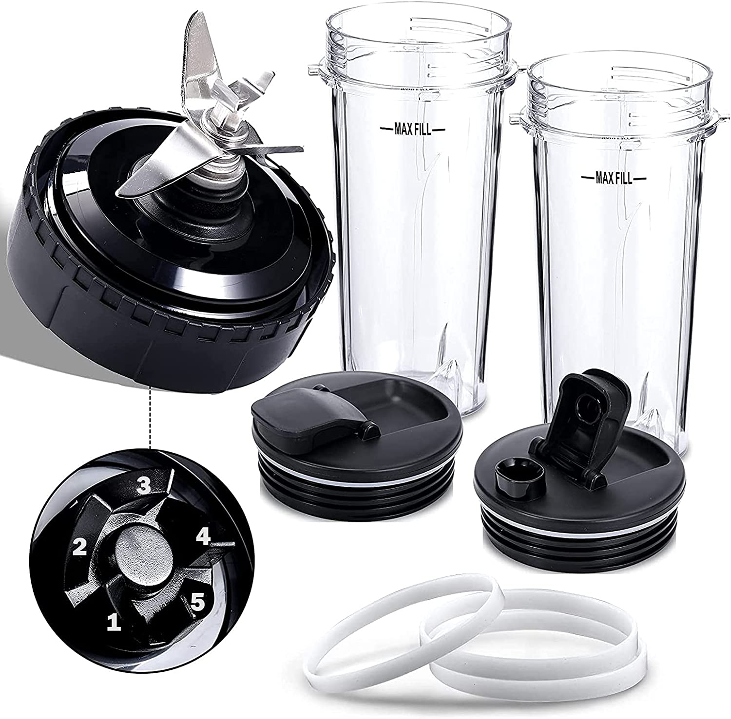 8 Pieces Credence Blender Replacement Parts Compatible 5 Popular popular Ninja with Nutri