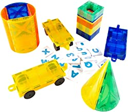 Mag-Genius The Perfect Add On Set Magnet Tile Gift, Comes With All The New Additions Includes 3 Cars, 20 Window Magnet Tiles W/Fun Clickins, And The All New Cones And Cylinder Design