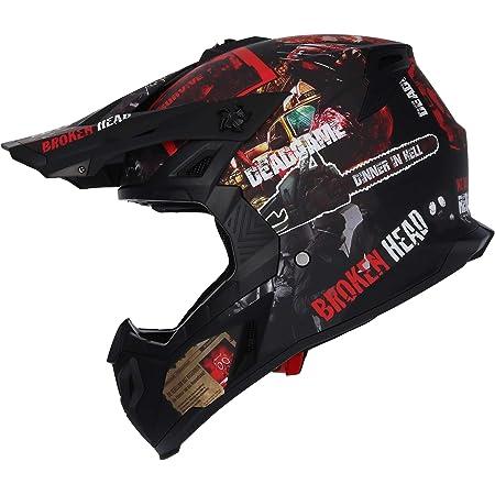 Broken Head Resolution Motorrad Helm Für Mx Motocross Sumo Und Quad Matt Schwarz Rot Größe Xxl 63 64 Cm Auto