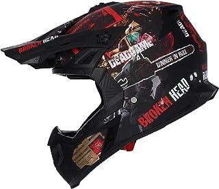 Broken Head Resolution - Motorrad-Helm Für MX, Motocross, SuMo und Quad - Matt-schwarz & Rot - Größe M 57-58 cm