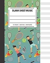 Blank Sheet Music: Tennis Sports Cover 8x10