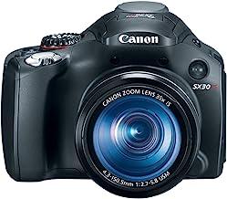 Cámara digital Canon SX30IS de 14,1 MP con zoom estabilizado de imagen óptica gran angular de 35 x y LCD de 2,7 pulgadas de ancho (modelo antiguo)