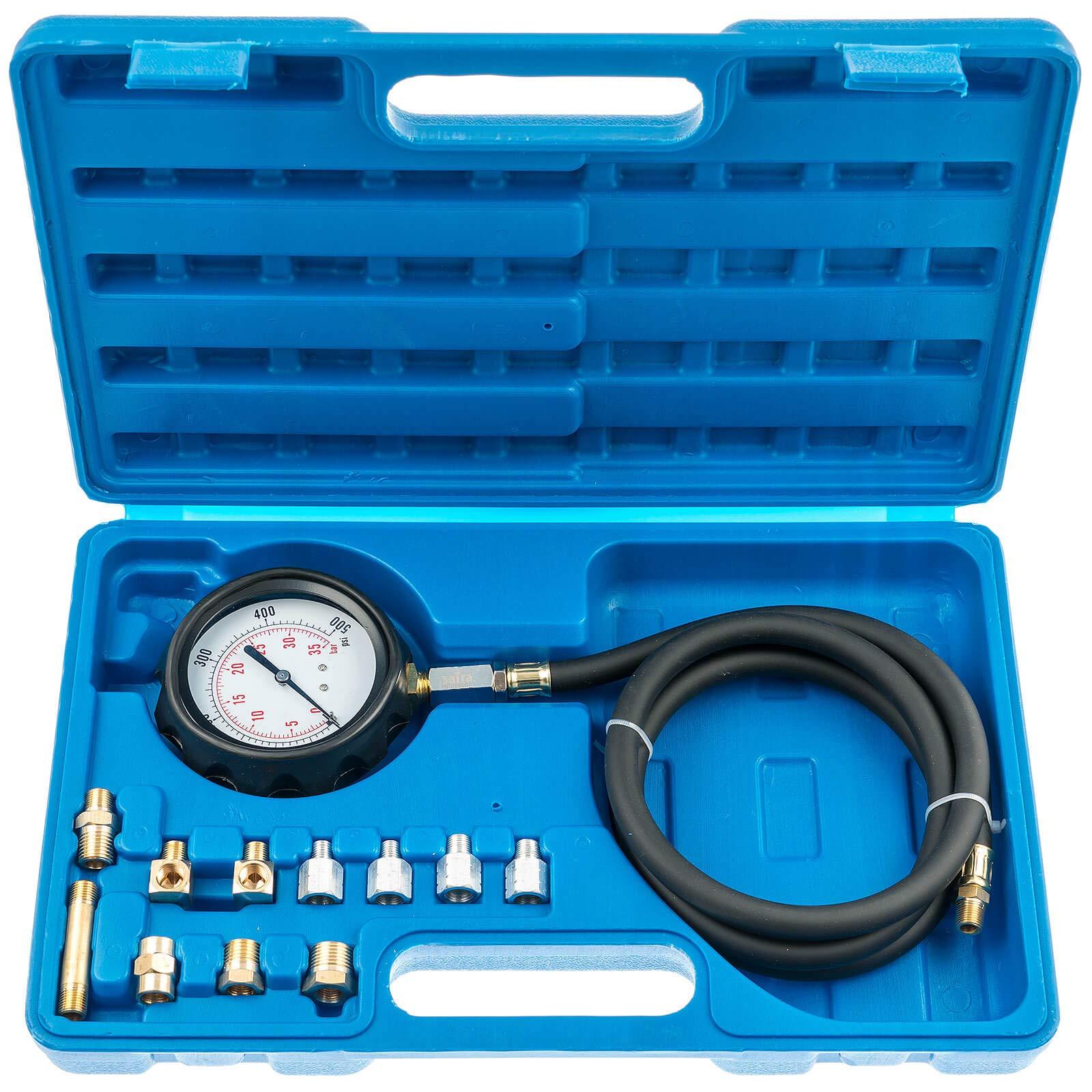 FreeTec Professional Petrol Gas Engine Cylinder Compression Tester Gauge Kit Auto Tool