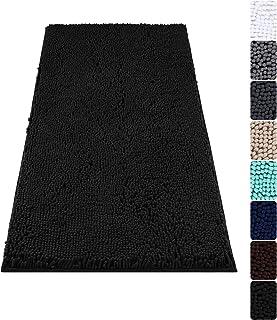 Colorxy Luxury Chenille Bathroom Rugs - Solid Shaggy Washable Bath Mat Non Slip Bath Room Runner, Ultra Soft, Plush Bathma...