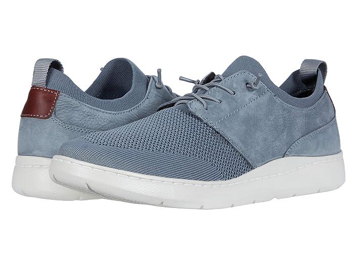 Johnston and Murphy  Farley Plain Toe (Gray Oiled Nubuck/Knit Mesh) Mens Shoes