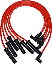 A-Team Performance 6 Cylinder 4.3L 262 Vortec 6, Silicone Double-layer Jacketing Compatible With GMC Chevy to Carb Swap 8.00 mm Red Silicone Spark Plug Wires