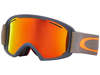 Oakley O Frame 2.0 XL (Forged Iron Brush w/ Fire Iridium/Persimmon) Goggles