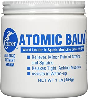 Cramer Atomic Balm, Medium Strength Warming Pain Reliever for Relieving Minor Pain From Strains & Sprains, Relaxing Tight Muscles, & Assisting in Warm-Up for Athletes, Relieve Joint & Arthritis Pain