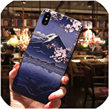 Japanese Mount Fuji Koi Phone Case for iPhone X 8 7 6S Plus Capa Soft TPU Back Cover for iPhone Xs MAX XR 11 Pro Max Case Coque,for Oppo R15 Dream,2-1-for iPhone8plus