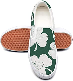 YSLC Man's Shamrock Happy St. Patrick's Day Skull Walking Shoes for Mens Cute Running Shoes