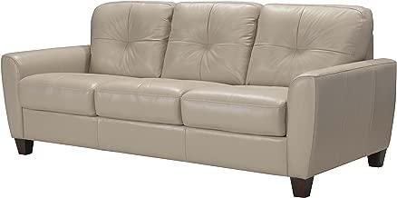 ACME Furniture Made in Italy Roma Sleeper Sofa, Dark Beige Leather