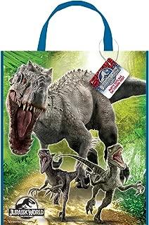 "Large Plastic Jurassic World Goodie Bag, 13"" x 11"""