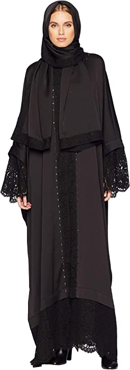 Embellished Abaya with Lace