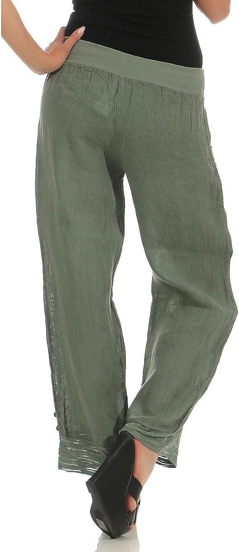 zarmexx pantaloni di lino da donna casual pantaloni estivi pantaloni lunghi  antiscivolo : amazon.it: moda  amazon.it