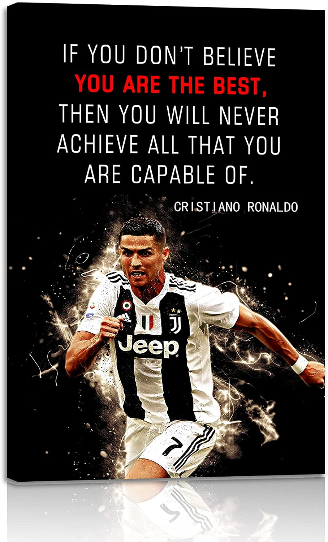 Football Sports Decor • Cristiano 2021new shipping free shipping unisex Poster Insp Quote Ronaldo