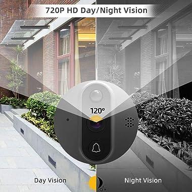 BCOM Digital Peephole Viewer WiFi Door Viewer Door Peephole 120°Wide Angle AHD 720P Camera TFT Screen 4.3 inch Smart Phone Tu