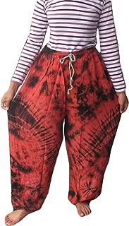 Perfect Beach Cotton Rayon Tie Dye Fisherman Yoka Pants Hippie Baggy