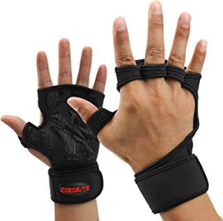 Sincerity Weight Lifting Gloves, Hand Grips Fingerless Gym Training Gloves with Wrist Wrap Support Palm Protection, for Pull Up Bar, Gym, Weightlifting, Deadlift, Calisthenics, Gymnastics