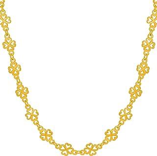 عقد جود لاك تشين للنساء والرجال من لايف لايف بوى مطلي بالذهب عيار 24 قيراط