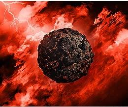 Pitaara Box Volcanic Globe With In A Stormy Sky Peel & Stick Vinyl Wall Sticker 33.7 X 28Inch