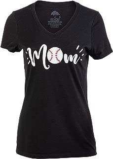 Baseball Mom | Funny Cute Fun Sport Mama Little League Mommy Women's V-Neck T-Shirt