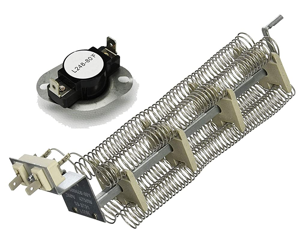 Dryer Heating Element and Thermostat that work with Admiral LNC7766A00