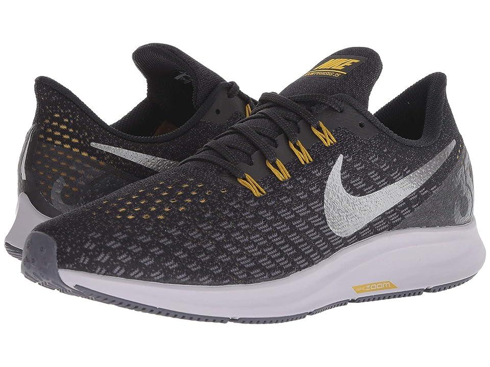 Nike Air Zoom Pegasus 35 (Black/Metallic Pewter/Gridiron/Peat Moss) Men