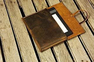 Funda de cuero envejecido Fire HD 8 10 / Estuche simple de cuero marrón retro Fire HD 8 10 FHX05S-S